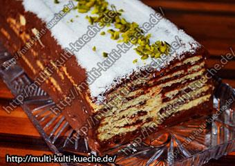 Butterkeks Pudding Kuchen Einfache Kuchen Rezept