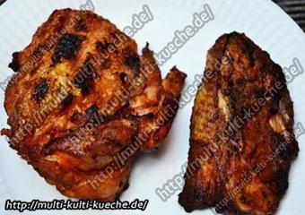 Knusprige BBQ Hähnchenschenkel vom Grill