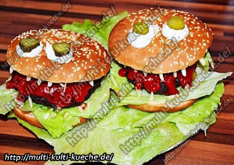 rezept f r halloween burger. Black Bedroom Furniture Sets. Home Design Ideas