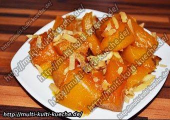 Türkisches Kürbis Dessert Süßer Kürbis (KABAK TATLISI)