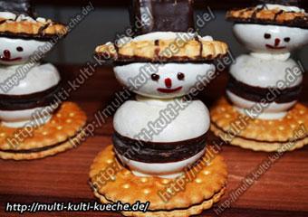 Schneemann Kekse - Snowman Cookies - Cookie Biscuit