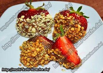Schoko Erdbeeren mit Nuss