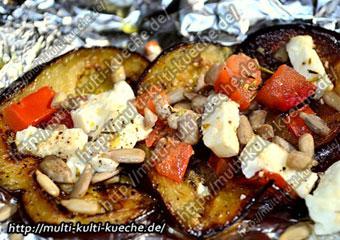 Auberginen - Feta Grill päckchen