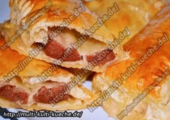 Blätterteig mit Sucuk Knoblauchwurst