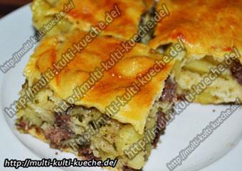 Börek mit Kartoffel und Fleischfüllung