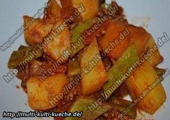 Bohnen Kartoffel Pfanne