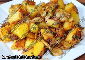 Bratkartoffeln mit Pilzen