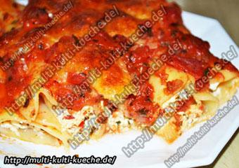 Cannelloni mit Frischkäse Füllung