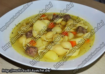 Cevapcici Suppe