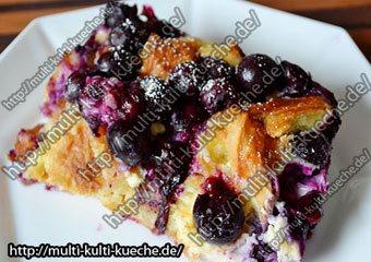 Croissant Blaubeeren Auflauf