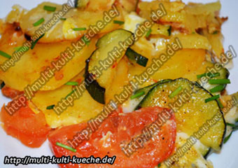 Eier Gemüse Pfanne