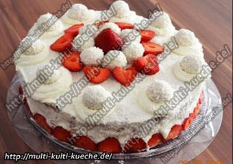 Erdbeer Raffaello Torte ohne backen
