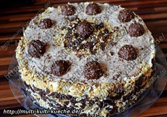 Ferrero Rocher Torte ohne backen