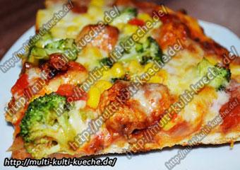 Geflügel Brokkoli Pizza