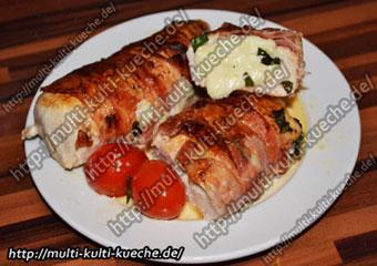 Hähnchenbrust mit Mozzarella Füllung