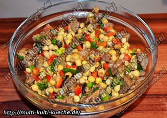 Kichererbsen Salat mit Lamm