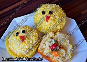 Küken Muffins mit Überraschung Füllung