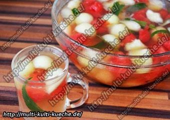 Melone Traube Bowle