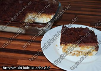 Milchcreme Keks Dessert