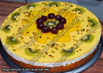 Multivitamin Pfirsich Torte