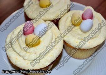 Ostermuffins mit Frischkäse Orangen Creme