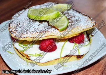 Pancake mit Limettencreme