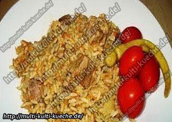 Reis mit Fleisch