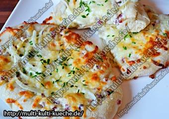Mittelalterliche Rahmfladen als Fingerfood