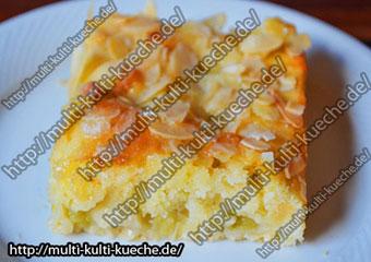 Rhabarber Mandel Kuchen
