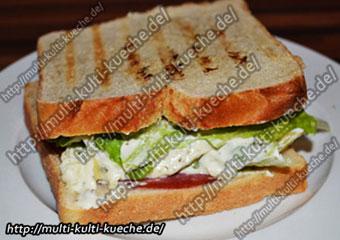 Salami Sandwich mit Käse