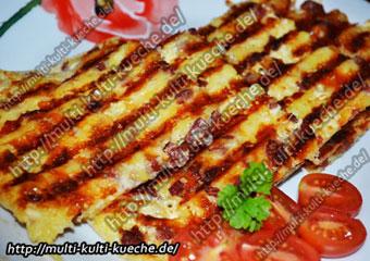 Türkischer Kartoffel Käse Toast mit Sucuk