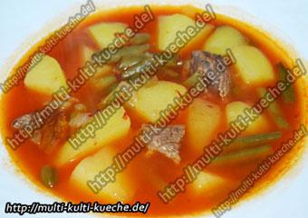 Brechbohnen Suppe - Grüne Bohnen eintopf
