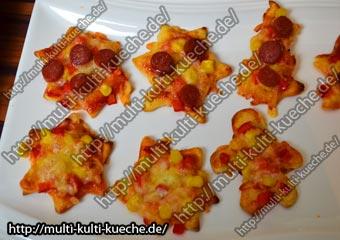Schnelle Weihnachts Pizza