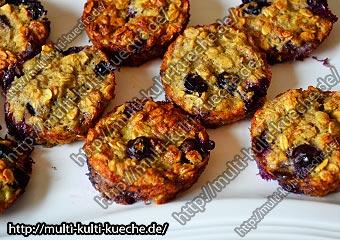 Frühstücks Muffins ohne Zucker