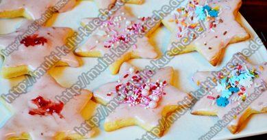 Erdbeersterne – Kekse mit Streuseln – Ausstechkekse