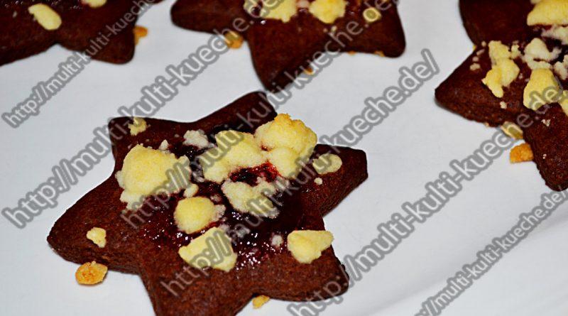 Schoko Kekse mit Streuseln
