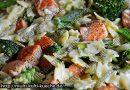 Lachs Nudelpfanne mit Brokkoli