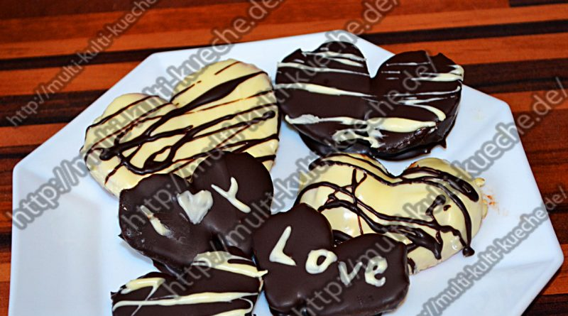 Schokoladen Erdbeer Herzen
