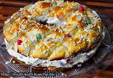 Osterzopf mit Pudding Füllung