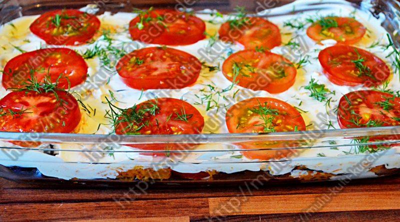 Auberginen Salat mit Knoblauch und Mayonnaise
