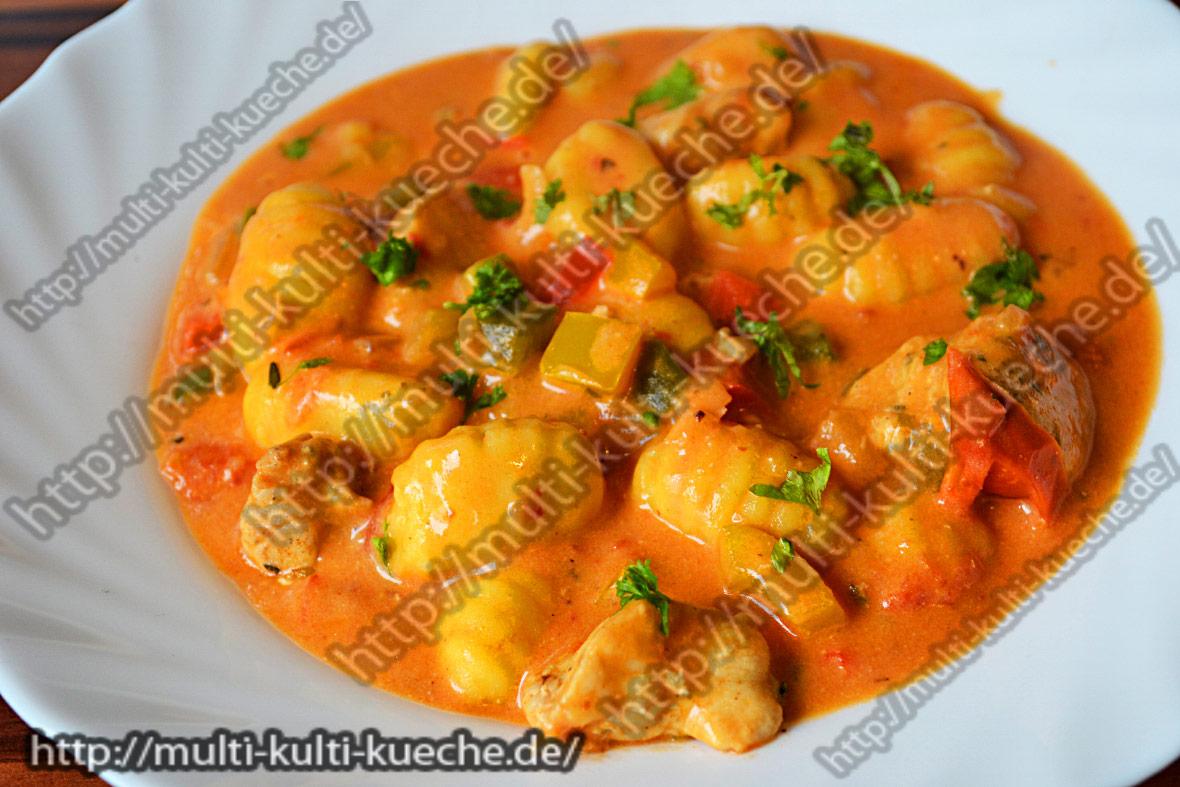 Gnocchi Hähnchenpfanne