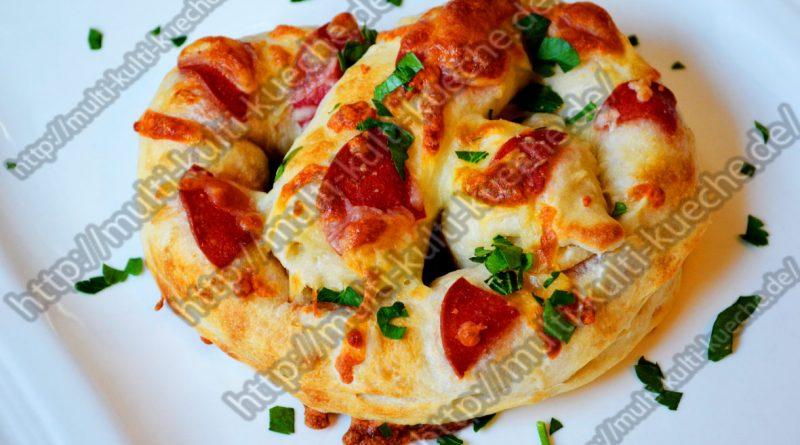 Schnelle Pizza Brezel