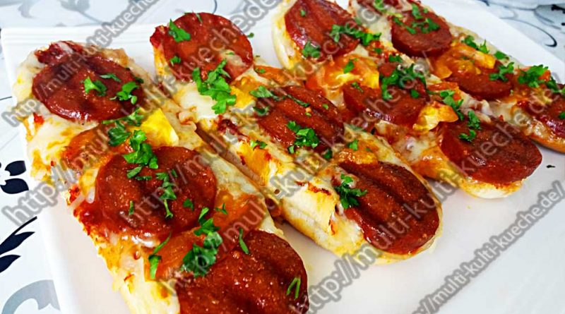 Hot Dog Brötchen mit Sucuk